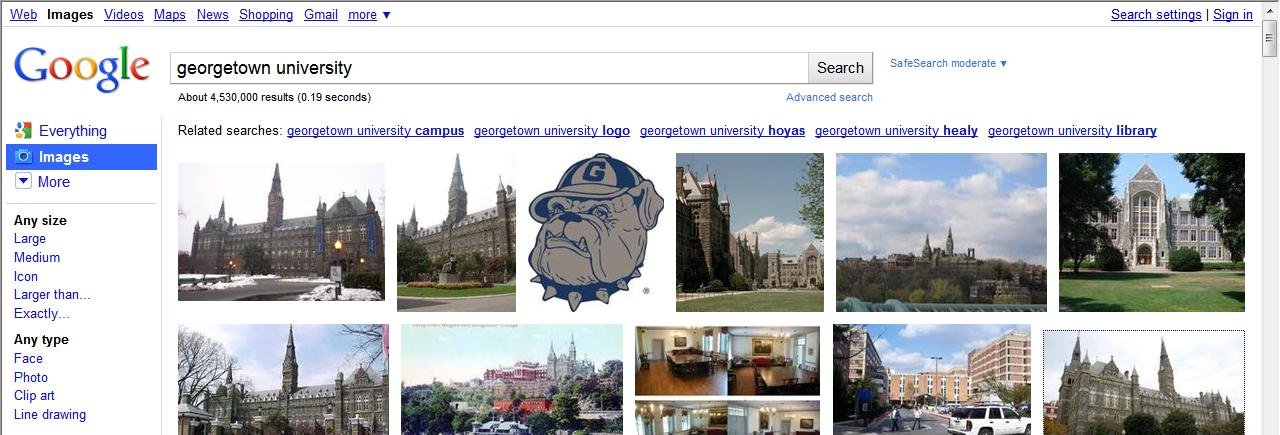 Downloading Images from the Internet A very good source for images is Google Image Search. Browse to http://www.google.