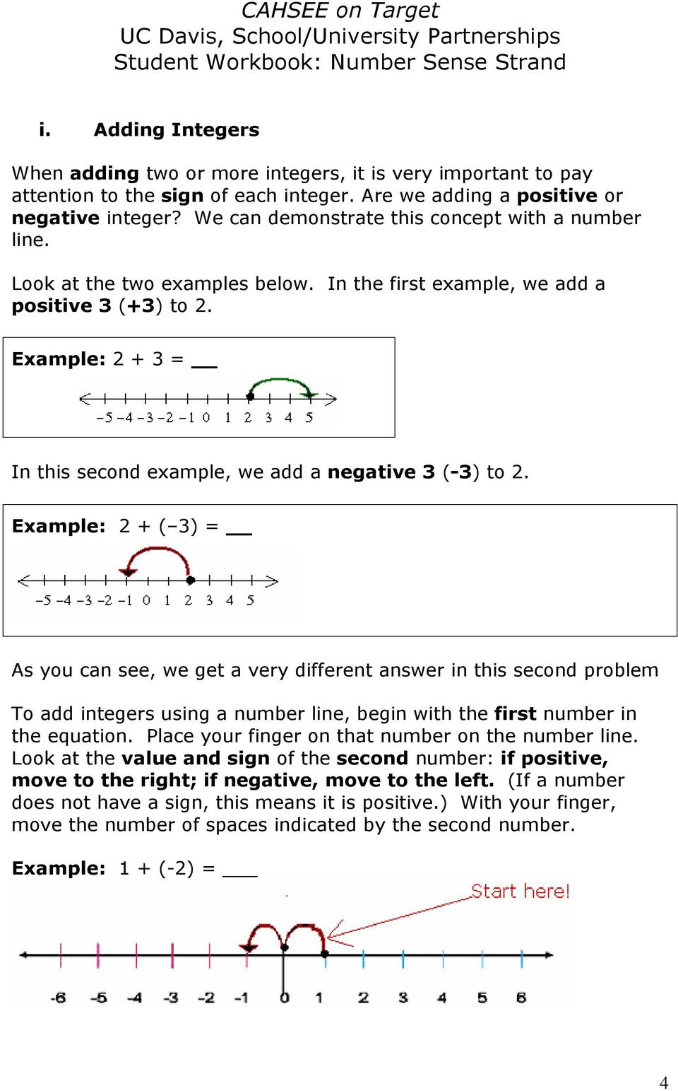 Example: 2 + 3 = In this second example, we add a negative 3 (-3) to 2.