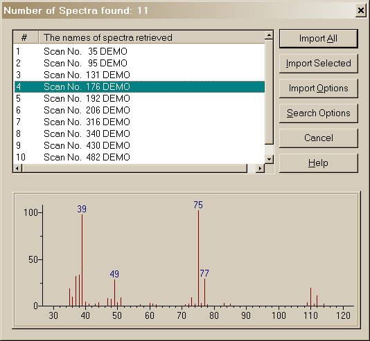 MSP and JDX files are spectra, and MOL files are structures. Figure 25.