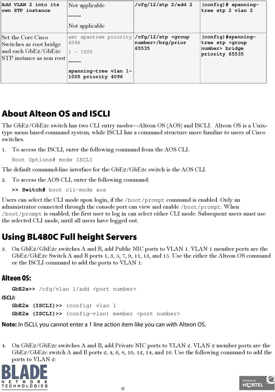 65535 About Alteon OS and ISCLI The GbE2/GbE2c switch has two CLI entry modes Alteon OS (AOS) and ISCLI.