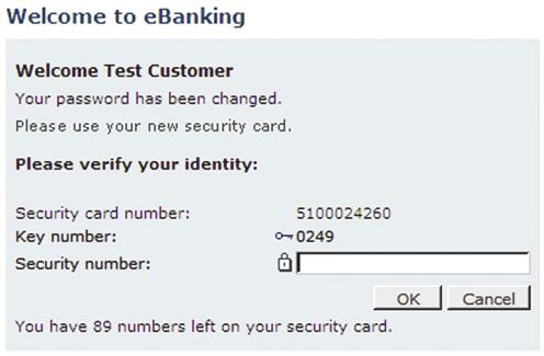 Danske Bank Setup Guide 3 5. Next, you need a code from your security card.