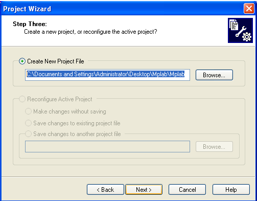 3.2.4. Adding files to Project Step Four of the Project Wizard allows file selection for the project. A source file has not yet been selected, so we will use an MPLAB IDE template file.