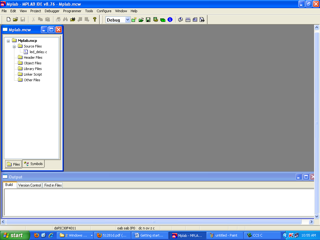 After pressing the Finish button, review the Project Window on the MPLAB IDE desktop.