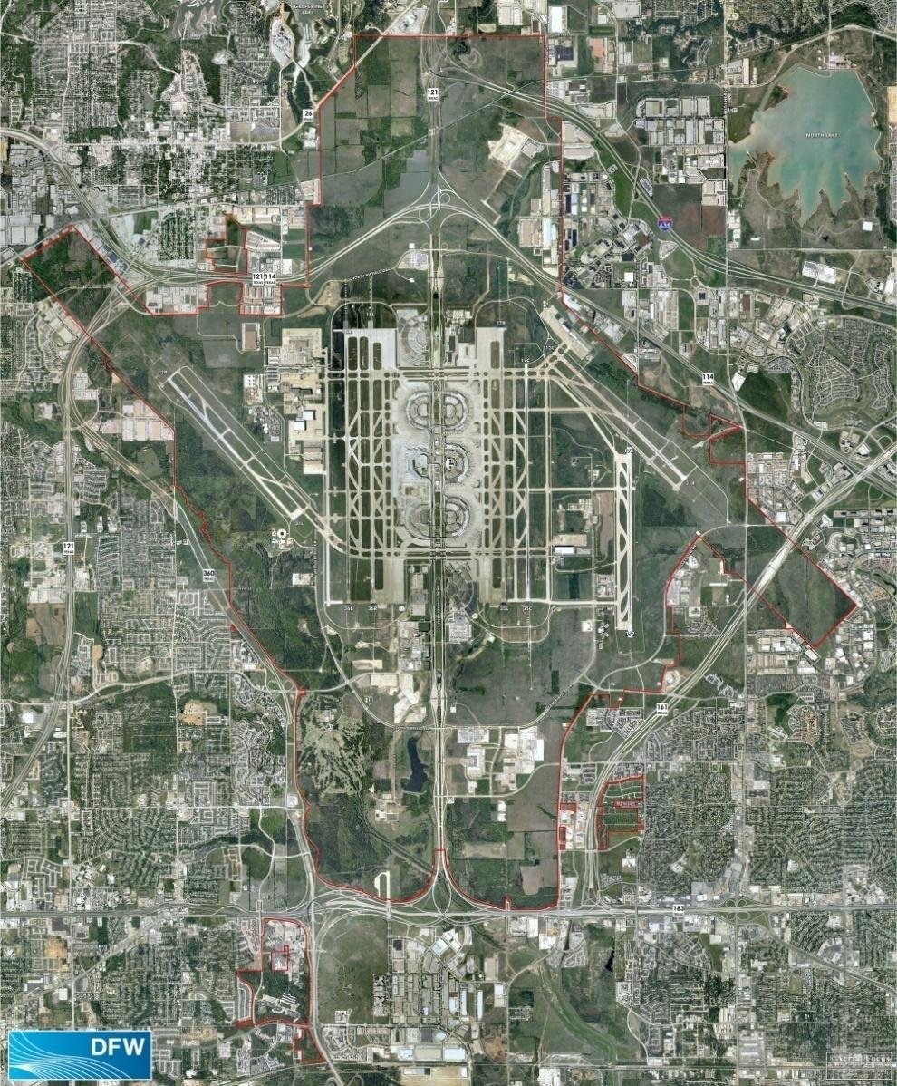 DFW Airport Overview 18,000+ acres Fifty five percent of land area is