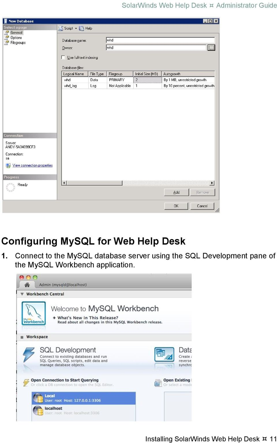 Solarwinds web help desk administrator guide pdf connect to the mysql database server using the sql kristyandbryce Choice Image