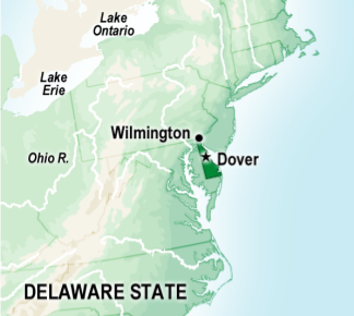 Delaware For a time, Pennsylvania included some lands along the lower Delaware River. The region was known as Pennsylvania's Lower Counties. Look at the map on page 111 to view Delaware!