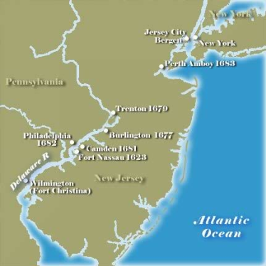 New Jersey separates from New York the Duke of York soon realized that New York was too big to govern easily. he gave part of the colony to his friends, Lord Berkeley and Sir George Carteret.