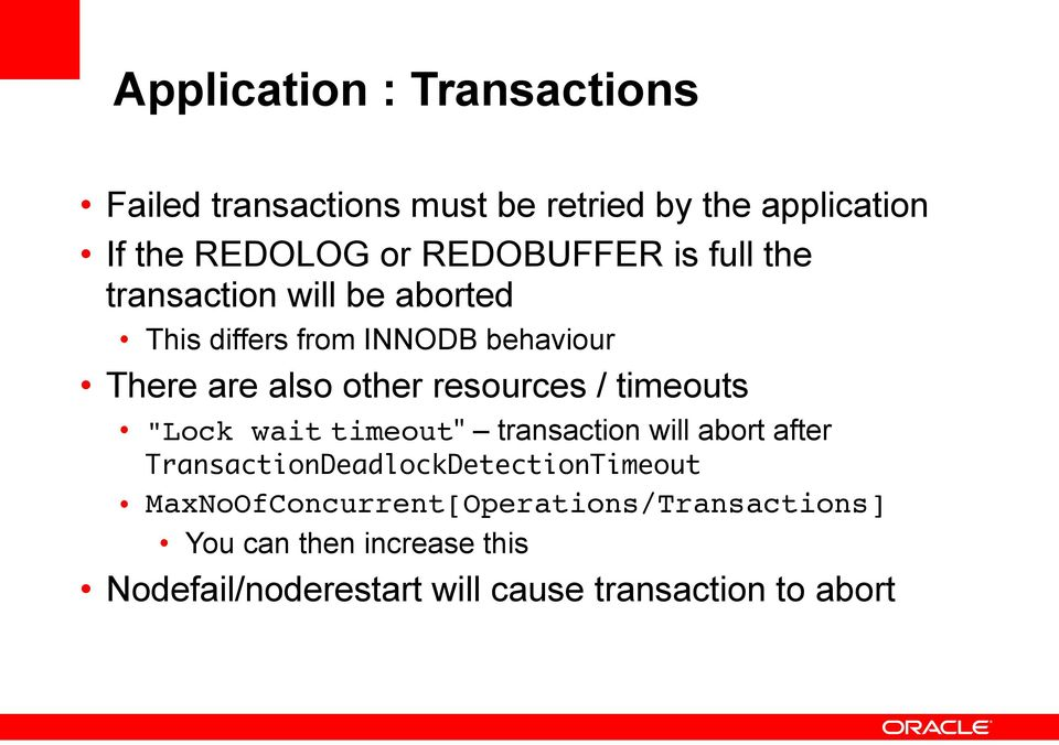 "resources / timeouts ""Lock wait timeout"" transaction will abort after TransactionDeadlockDetectionTimeout"