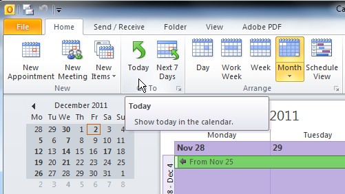 Change the view of the Calendar Go to View tab Current View group click on Change View Select a desired view options from the list, for example List View (recommended)