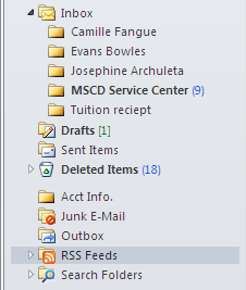 Explore Additional Features Subscribe to blogs The RSS Feed will automatically update Outlook with the latest post from the favorite blogs The RSS