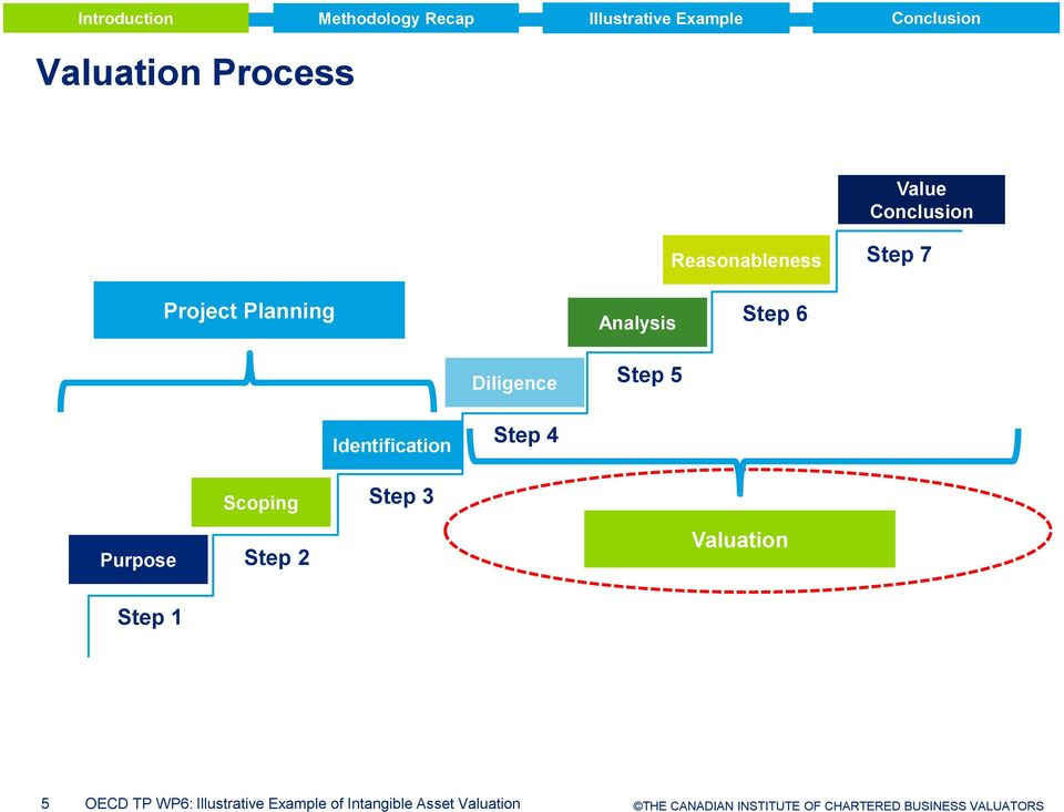 Scoping Step Step Valuation Step 5 OECD TP WP6: Illustrative Example