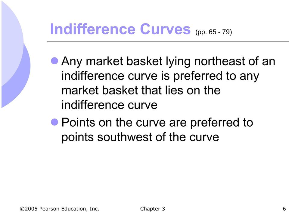 curve is preferred to any market basket that lies on the