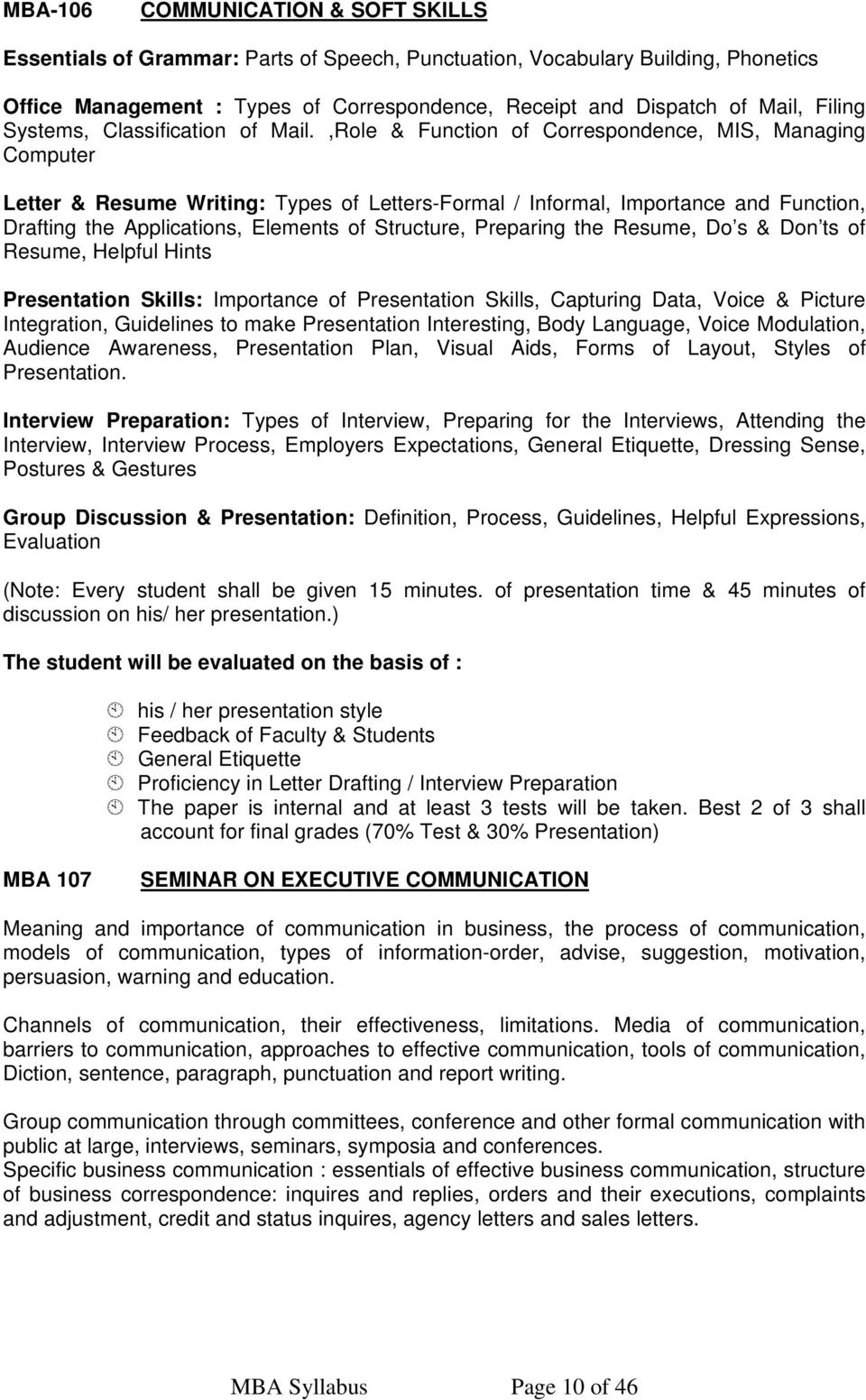 doc 4661 what does the communication part of a resume