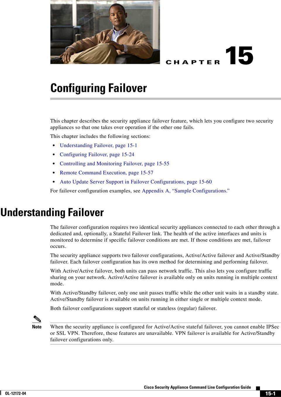 Support in Failover Configurations, page 15-60 For failover configuration examples, see Appendix A, Sample Configurations.