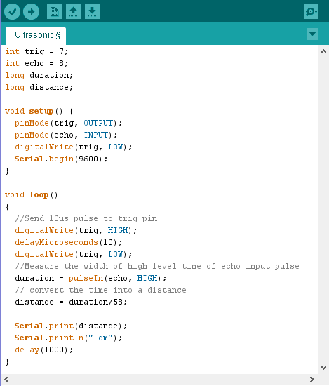 Serial.begin(9600); This function initializes the Arduino to send data to the computer. 9600 is called as baud rate.