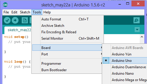 Step 4: Open Arduino software and set the port as follows.