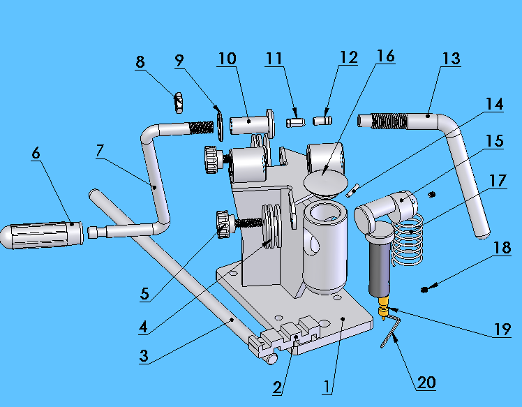 ASSEMBLY DIAGRAM 21 Part # Description QTY Part # Description QTY 1 Base 1 11 Spinner Die 2 2 Anvil 1 12 Thrust Die 2 3 Breaker Lever 1 13 Thrust Handle 1 4 Guide Wheel 2 14 Spring Pin 1 5 Wheel