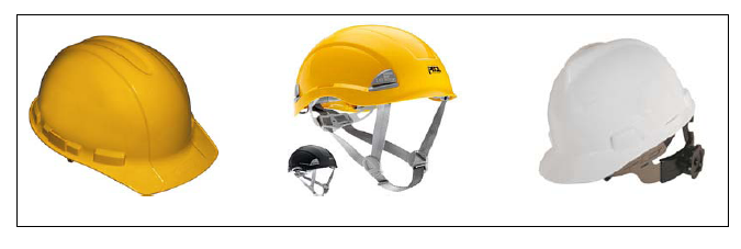 3.5 Safety Helmets Figure 6 The responsible manager shall ensure that all employees wear head protection if any of the following apply: objects might fall from above and strike them on the head; they