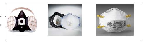 3.7 Respiratory Equipment Figure 8 Respirators shall meet the requirements of international standards as defined in section 3.