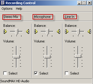 Ensure that the volume for the Sound recording is set correctly or adjusted for the recording. Click Volume This will open the volume control.