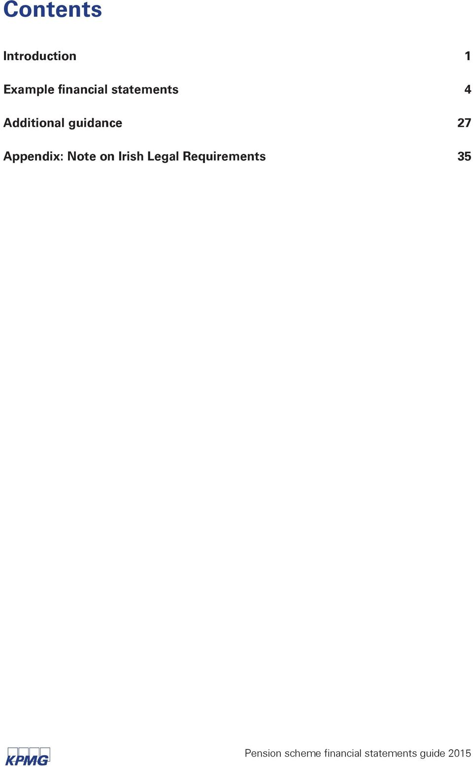 Appendix: Note on Irish Legal Requirements