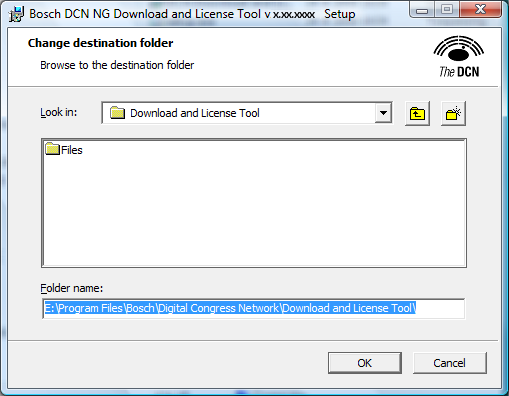 DCN-NG Download and License Tool Installation of the software en 13 Click Browse... to change the installation folder.