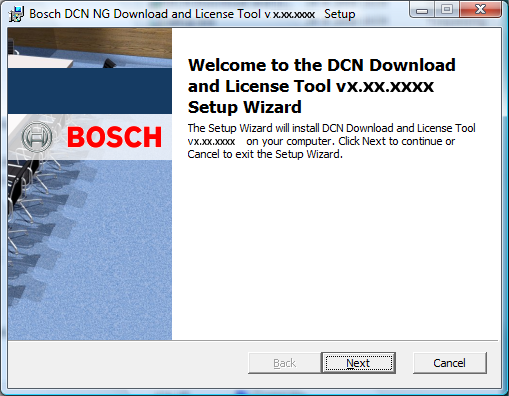 DCN-NG Download and License Tool Installation of the software en 15 3.2 Change, repair or remove the installation 1.