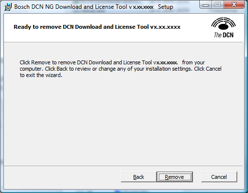 20 en Installation of the software DCN-NG Download and License Tool Click Finish to complete the