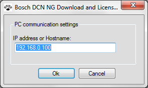 DCN-NG Download and License Tool Configuration and operation en 23 4.1 Setup the connection (options) Firstly the connection with the Central Control Unit (CCU) must be configured: 1.