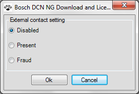 40 en Configuration and operation DCN-NG Download and License Tool NOTICE! The current CCU external contact setting is displayed/selected.