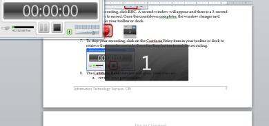 To stop your recording, click on the Camtasia Relay recorder in your toolbar or dock to retrieve the recorder controls.