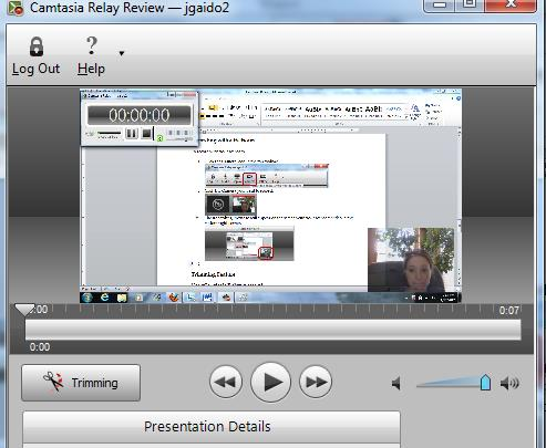 3. The Recording Preview will appear on the screen with your webcam video in the bottom right corner. 4.