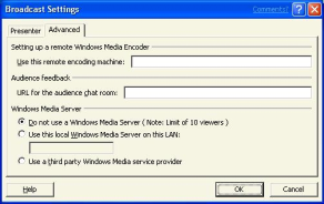 4. Click the Settings button in the lower left hand side of the dialog box and make sure Video and audio is selected.