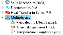 Combining With More Physics Add a Heat Transfer physics interface Add thermal