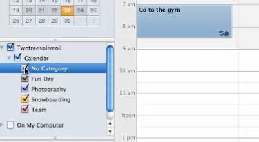 Categorize to put the event into a category By categorizing events you can choose which calendars you