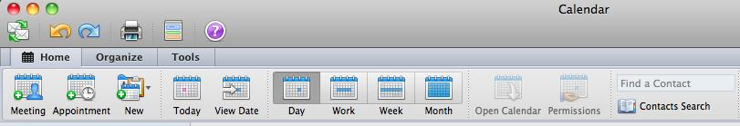 View a month view Change the view of the Calendar From the Ribbon, go to Organize tab Select a desired view options for