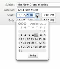 any of the following: Manually enter the date next to Starts or Ends Click on the little calendar next to
