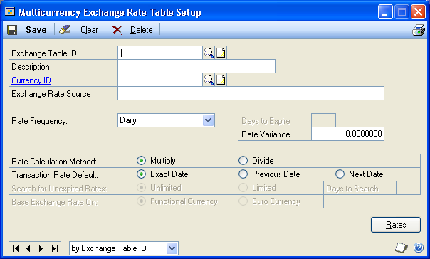 PART 1 SETUP Calculation methods for exchange rates You can select whether the originating currency amount you ve entered should be multiplied or divided by the exchange rate to calculate the