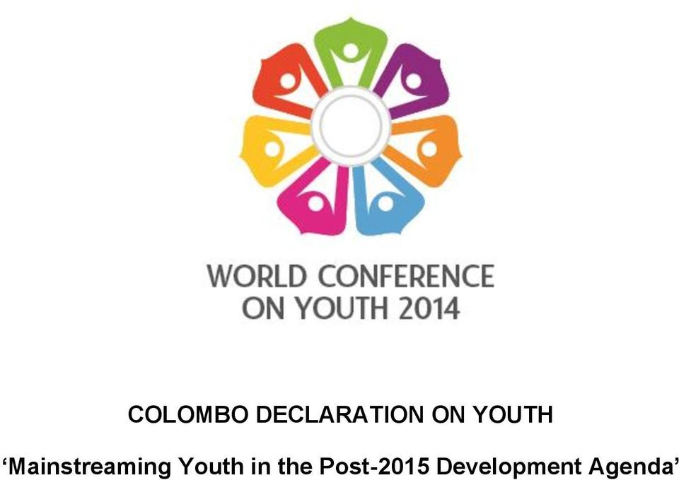 Mainstreaming Youth
