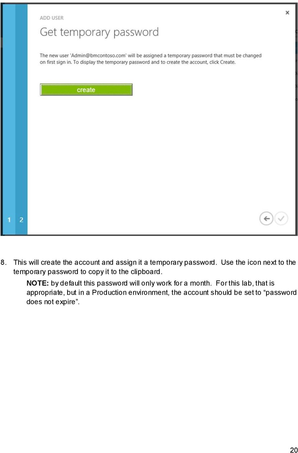NOTE: by default this password will only work for a month.