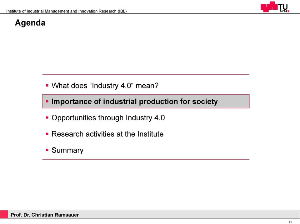 society Opportunities through Industry 4.