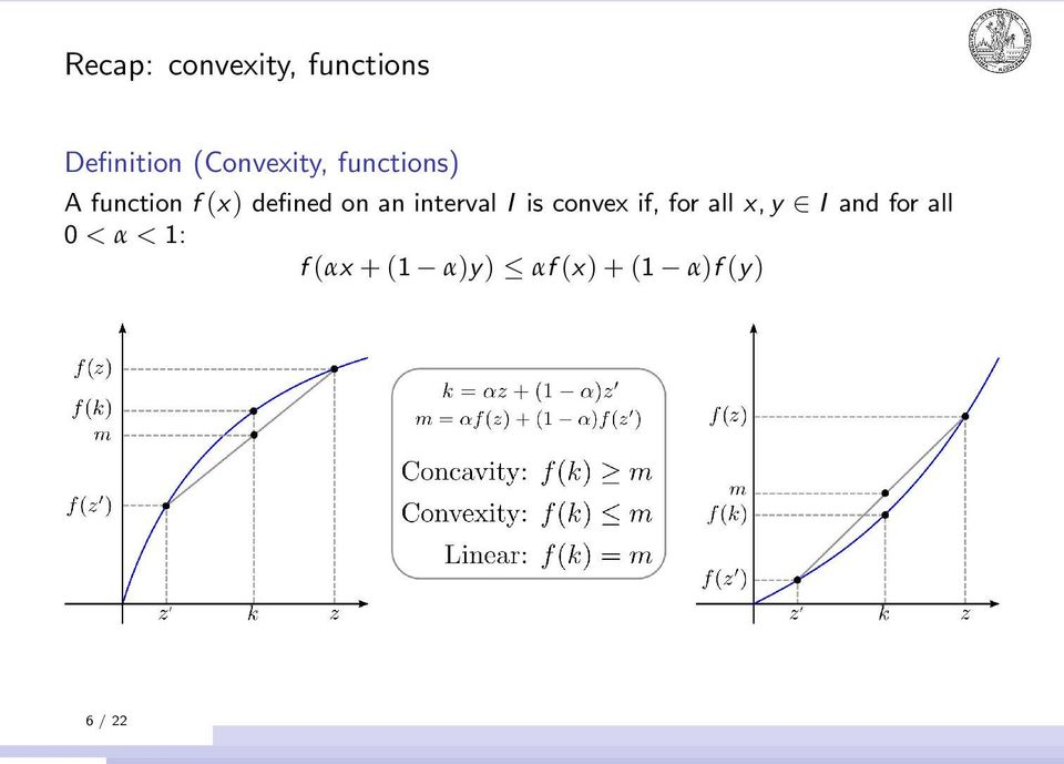 on an interval I is convex if, for all x, y I and