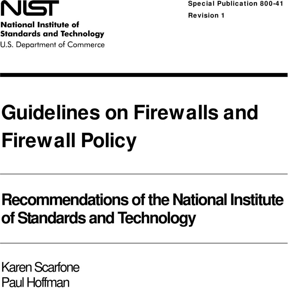 Recommendations of the National Institute of
