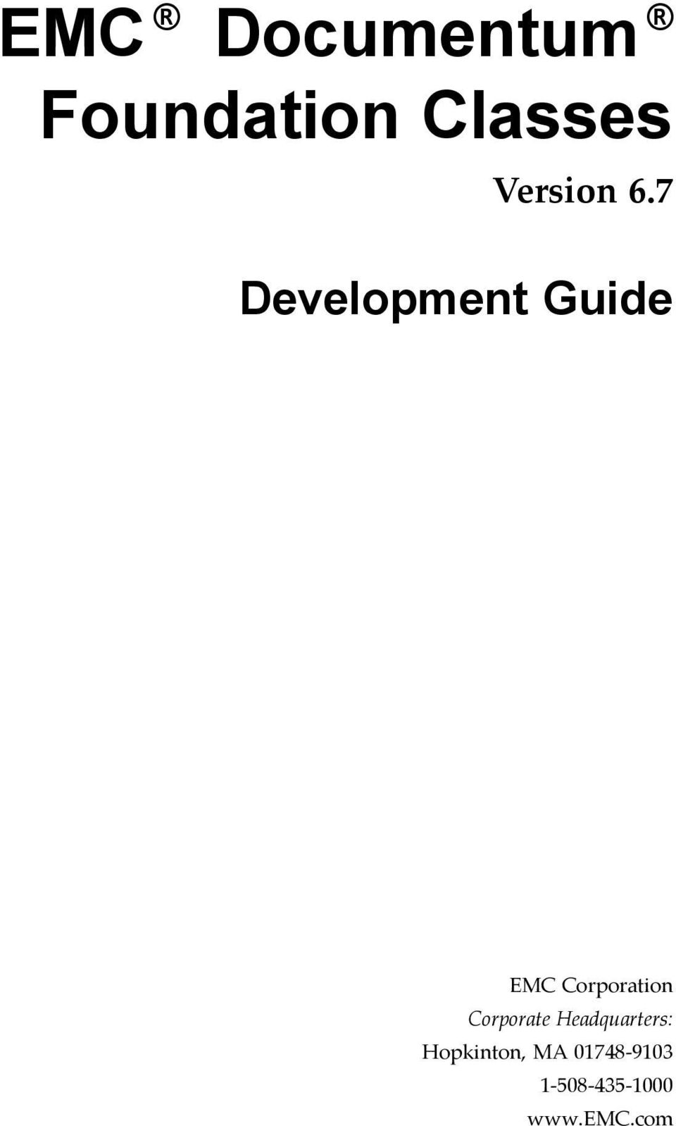 7 Development Guide EMC Corporation