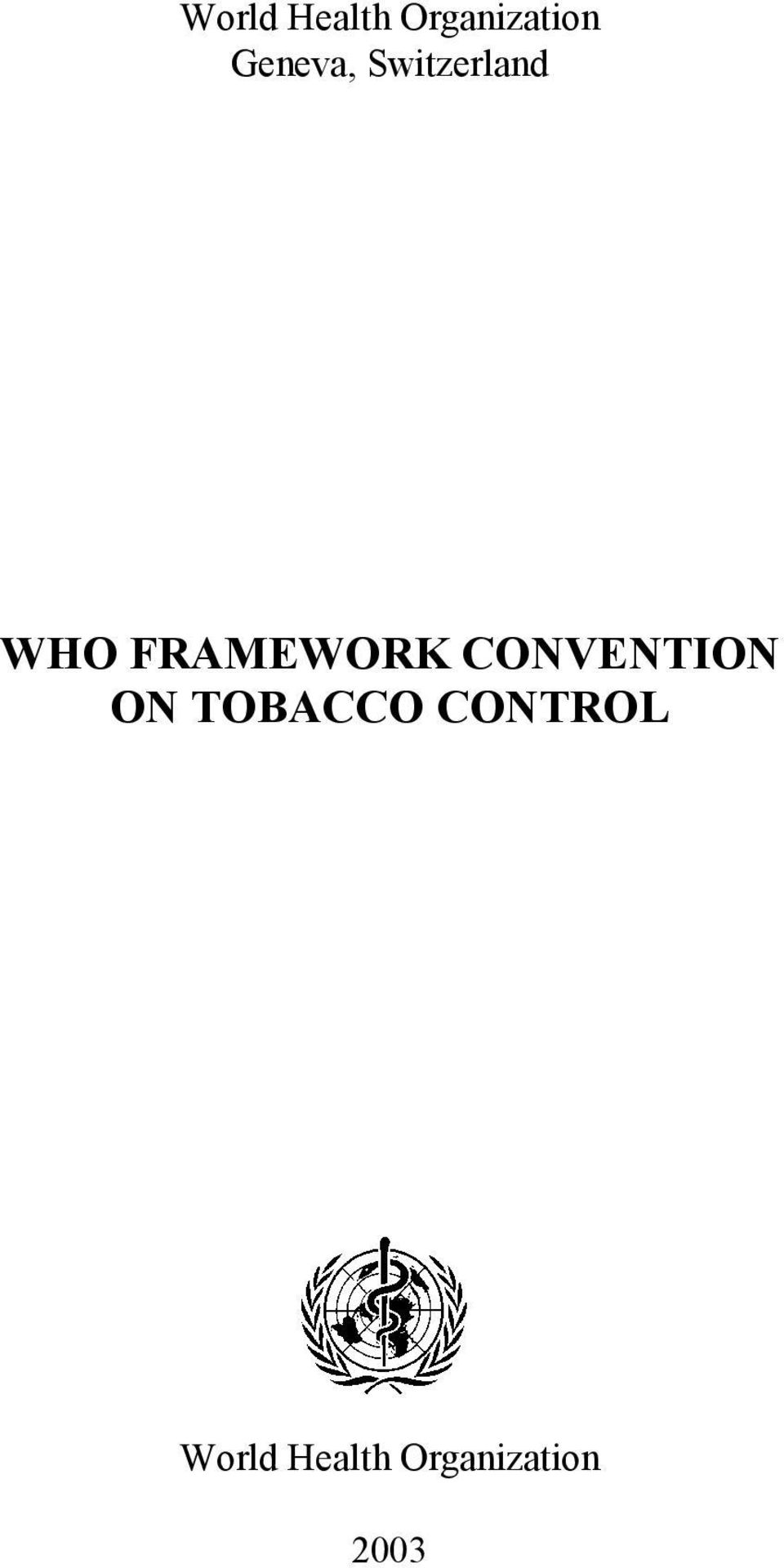 FRAMEWORK CONVENTION ON