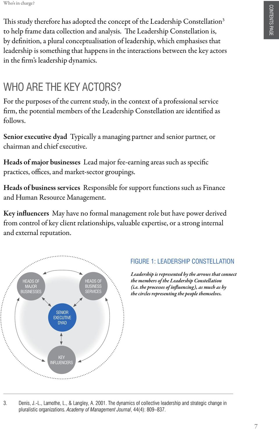 firm s leadership dynamics. CONTENTS PAGE WHO ARE THE KEY ACTORS?