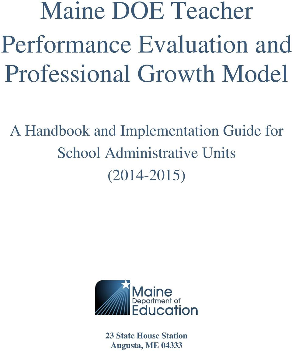 Implementation Guide for School Administrative