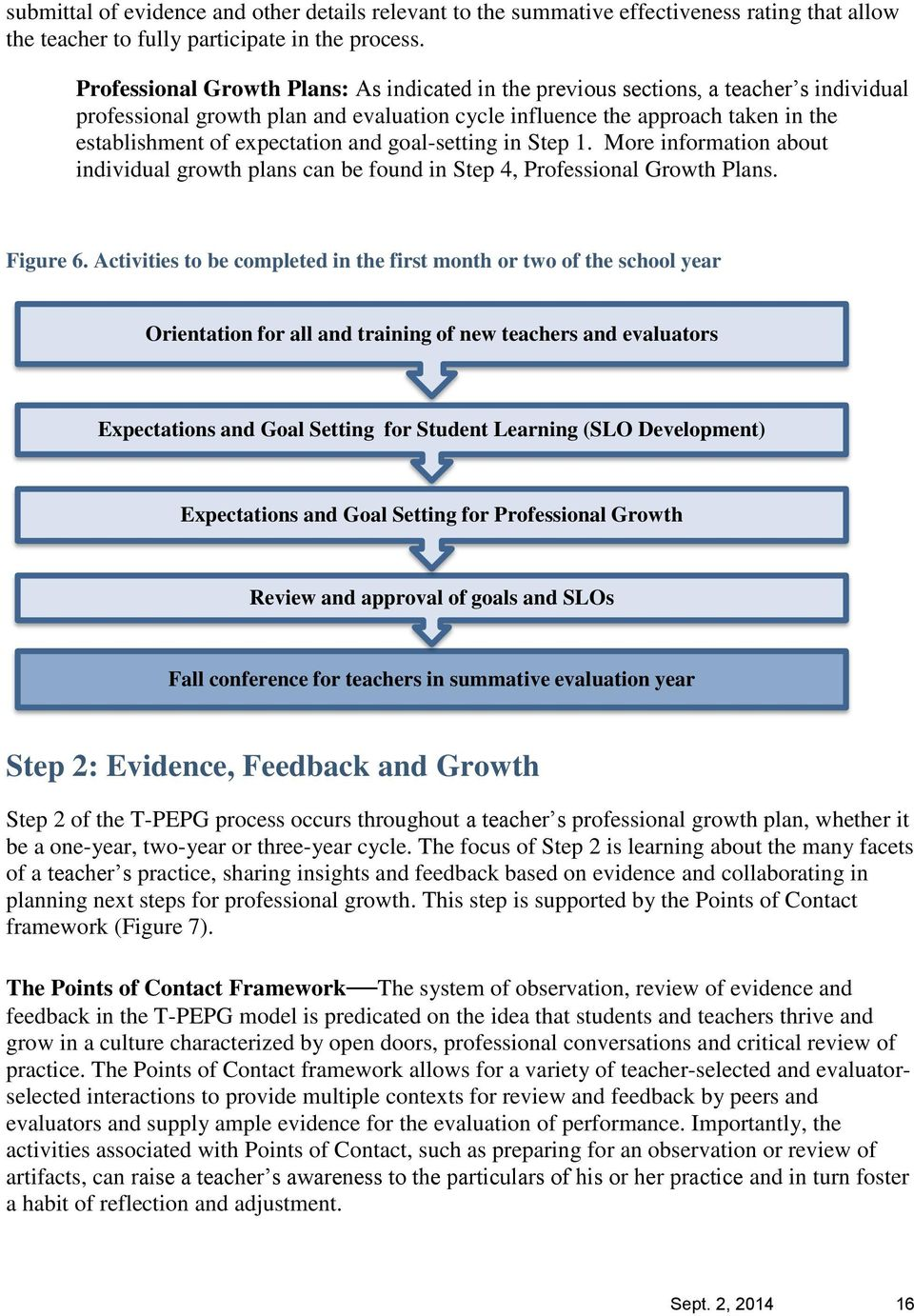 and goal-setting in Step 1. More information about individual growth plans can be found in Step 4, Professional Growth Plans. Figure 6.