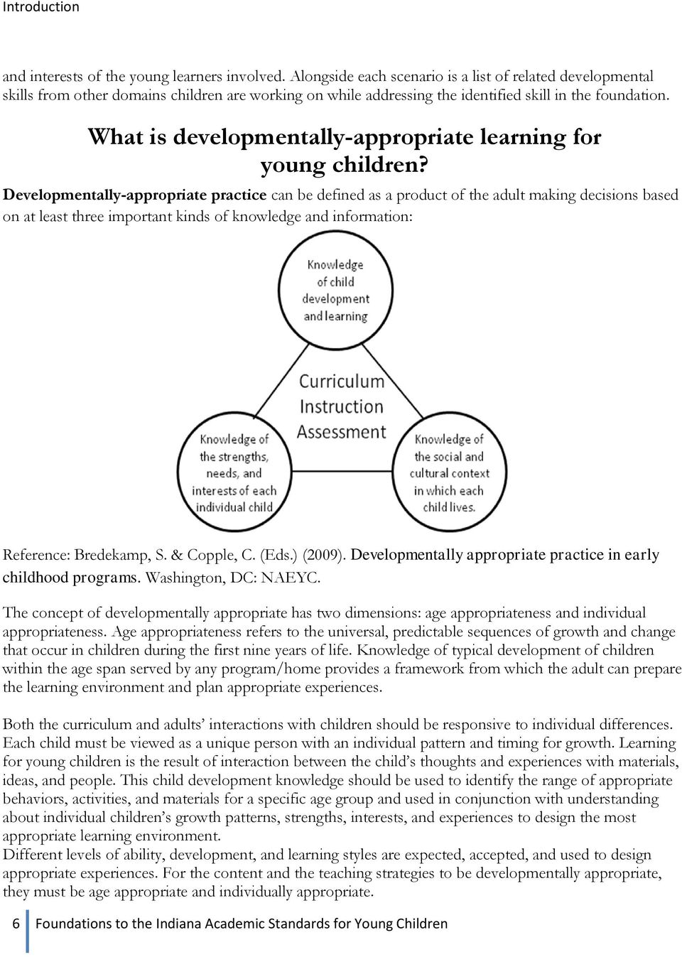 What is developmentally-appropriate learning for young children?