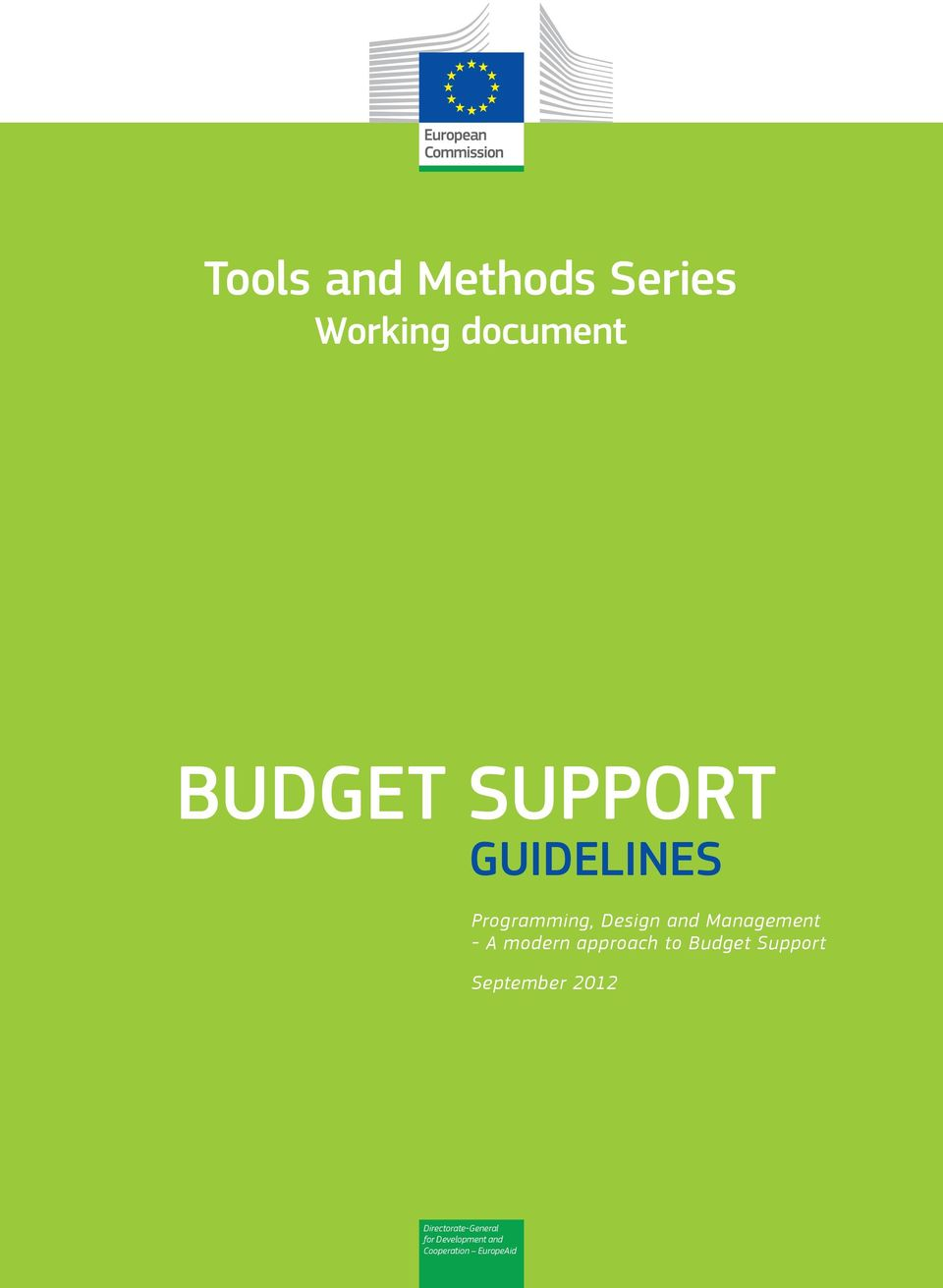- A modern approach to Budget Support September 2012